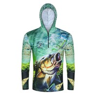 Man Summer Outdoor Sports Jacket Fishing Shirt Zipper Hooded Clothes Sunscreen Breathable Men Quick Dry Fishing Hiking Shirts