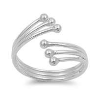 Sterling Silver Three Wires 11MM Toe Ring/ Knuckle/ Mid-Finger