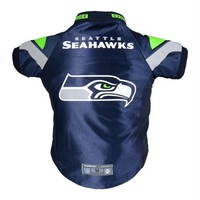 qiyif Seattle Seahawks Pet Premium Jersey