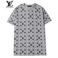 LV Louis Vuitton Women Men Casual Print Short Sleeve T-Shirt Top