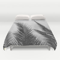 Palm Leaves 2 Duvet Cover by Mareike Böhmer Photography