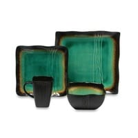 Baum Galaxy Square 16-Piece Dinnerware Set in Jade