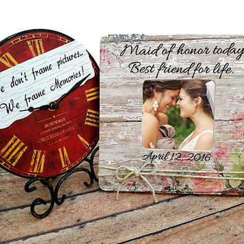 Maid of Honor Photo Frame, Wedding gift, Bridesmaid gift