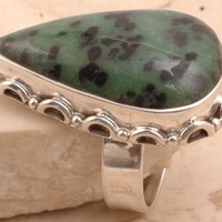 Flawless 925 Sterling Silver Zoisite Ring