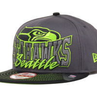 Seattle Seahawks NFL Graphite Out and Up 9FIFTY Snapback Cap
