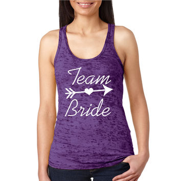 Team Bride Burnout Racerback Tank