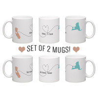Best friend / sisters mugs / going away gift