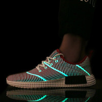 2016 emitting luminous Men's casual shoes Male fashion high quality glow in the dark Fluorescent shoes Zapatos Hombre Men Shoes