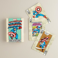 Captain America Superhero Playing Cards - World Market