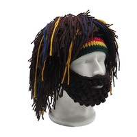 Rasta Man - Jamaican Hat With Dreads Hair and Beard - Ski Mask