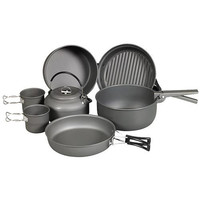 Cookware - 9 Piece Mess Kit with Kettle