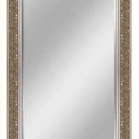 Ornate Silver Leaner Mirror (8930) - Illuminada
