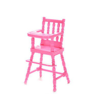 Baby High Chairs Plastic Feeding Chair Babie Dollhouse Bedroom Furniture HU