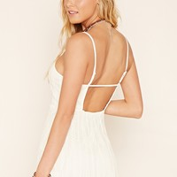 Embroidered Mesh Cami Dress