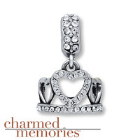 Charmed Memories Crown Charm Sterling Silver