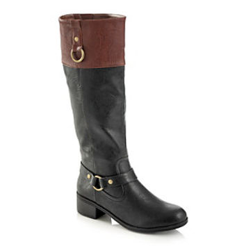 """Rampage® """"Indiana"""" Mid-Heel Riding Boot at www.herbergers.com"""