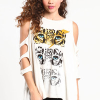 WILD EYES CUT OUT TOP