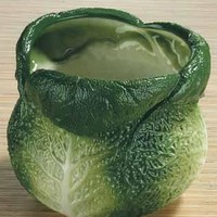 Savoy Cabbage Ceramic Utensil Holder