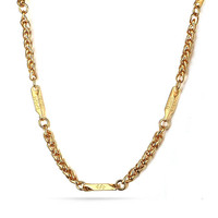 18K Gold Plated Stainless Steel Jesus Link Chain Necklace for Men 4.0mm,24 Inches