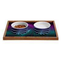Three Of The Possessed Miami Nights Pet Bowl and Tray