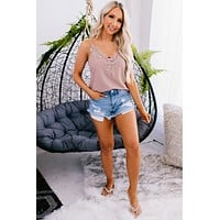 Miss Me More Floral Lace Tank Top (Light Pink)
