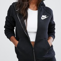 Nike Women's Zip-Up Hoodie Black Jacket