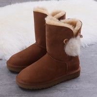 Women's UGG snow boots Mid-tube women's boots DHL _1686248855-391