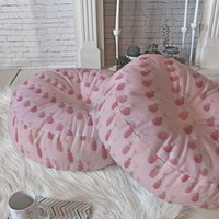 Lisa Argyropoulos Pineapple Blush Rose Floor Pillow Round