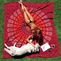 Indian Mandala Tapestry Wall Hanging Hippie Beach Throw Towel Boho Printed Yoga Mat Bedspread Tablecloth Home Decor 150*210cm