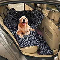 Dog Waterproof Car Seat Cover With Paw Prints