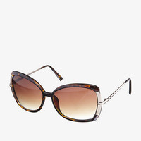 OVERSIZED METAL ACCENT SQUARE SUNGLASSES from EXPRESS