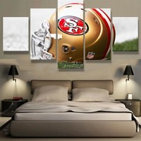49ers 5 Panel Canvas For ManCave