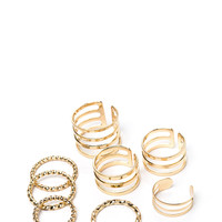 Too Cool Cut-Out 'N Twisted Ring Set