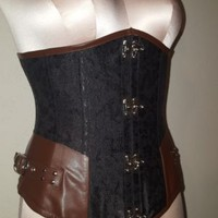 Steel-Boned Steampunk Corset