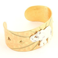 Elephant Bangle Bracelet - Gold or Silver