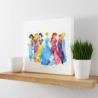 Disney Princesses Gallery Wrapped Canvas