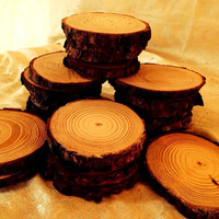70 pieces of 4 inch white pine rounds coaseter wedding favors dried and sanded for printing stamping burning and etching