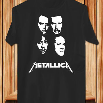 Metallica Player TShirt Tee Shirts Black and White For Men and Women Unisex Size