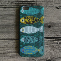 Fishes Printed Hard Case for iPhone
