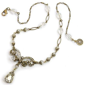 Victorian Bridal Lavaliere Necklace