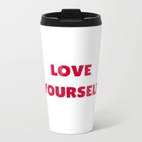 LOVE YOURSELF Metal Travel Mug by Love from Sophie