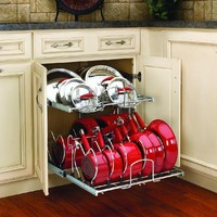 Rev-A-Shelf - 5CW2-2122-CR - 21 in. Pull-Out 2-Tier Base Cabinet Cookware Organizer