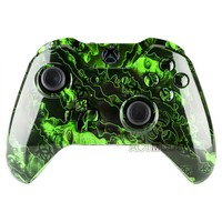 Full Housing Shell Button for Xbox One Controller W/3.5 mm Jack Green Zombies