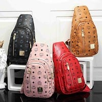 MCM hot sale classic zipper waist bag fashion men's and women's shoulder messenger bag chest bag