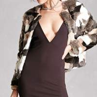 Faux Fur Colorblock Jacket