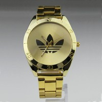 Stainless Steel Band Men Gold Watch Hot Sale Quartz Watch [11912226387]