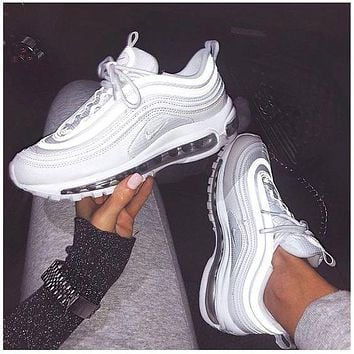 Nike Air Max 97 full palm cushion, cushioning, breathable, fashionable men's and women's casual sports shoes 2