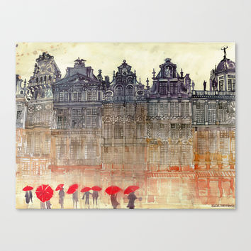 Brussels Stretched Canvas by Takmaj