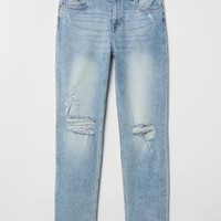 Girlfriend Regular Jeans - Light denim blue - Ladies | H&M US