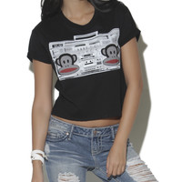 Paul Frank Boom Box Crop Tee | Shop Just Arrived at Wet Seal
